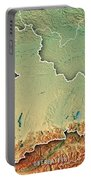 Oberbayern Regierungsbezirk Bayern 3d Render Topographic Map Bor Portable Battery Charger
