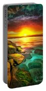Ocean Lit In Ambiance Portable Battery Charger