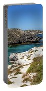 Ocean Water And Rocks Portable Battery Charger