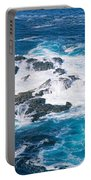 Ocean Waves Crashing On Rocks Portable Battery Charger