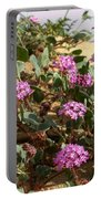 Ocotilla Wells Pink Flowers 2 Portable Battery Charger