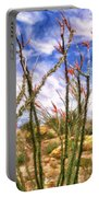 Ocotillos In Bloom Portable Battery Charger