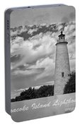 Ocracoke Island Lighthouse Poster Portable Battery Charger