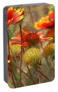 October Flowers 2 Portable Battery Charger
