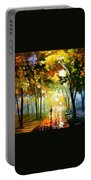 October Reflections - Palette Knife Oil Painting On Canvas By Leonid Afremov Portable Battery Charger