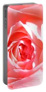 October Rose Close Up Portable Battery Charger