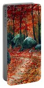 October Woodland Portable Battery Charger