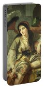 Odalisque Portable Battery Charger by Jean Baptiste Ange Tissier
