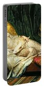 Odalisque With A Lute Portable Battery Charger by Hippolyte Berteaux