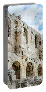 Odeon Stone Wall - Athens Greece Portable Battery Charger