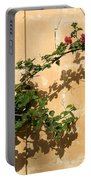 Of Light And Shadow - Bougainvillea On A Timeworn Plaster Wall Portable Battery Charger