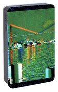 Of Time And The Savannah River Bridge Portable Battery Charger