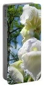 Office Art Giclee Prints White Yellow Iris Flowers Irises Baslee Troutman Portable Battery Charger