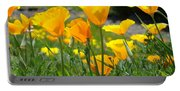 Office Art Poppies Poppy Flowers Giclee Prints Baslee Troutman Portable Battery Charger