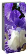 Office Art Prints Irises Purple White Iris Flowers 39 Giclee Prints Baslee Troutman Portable Battery Charger