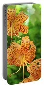 Office Art Prints Tiger Lilies Flowers Nature Giclee Prints Baslee Troutman Portable Battery Charger