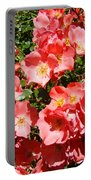 Office Art Rose Garden Landscape Art Pink Roses Giclee Baslee Troutman Portable Battery Charger