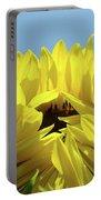 Office Art Sunflower Opening Summer Sun Flower Baslee Troutman Portable Battery Charger