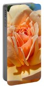 Office Artwork Roses Peach Rose Flower Giclee Baslee Troutman Portable Battery Charger