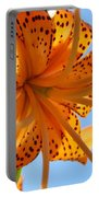Office Artwork Tiger Lily Flowers Art Prints Baslee Troutman Portable Battery Charger