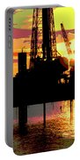 Offshore Drilling Rig Sunset Portable Battery Charger