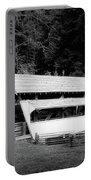 Ohio Covered Bridge In Black And White Portable Battery Charger