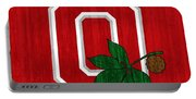 Ohio State Wood Door Portable Battery Charger