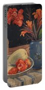 Oil Painting Still Life Vase Fruits Portable Battery Charger