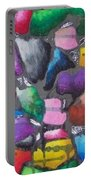 Oil Pastel Abstract Portable Battery Charger