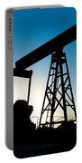 Oil Rig Silhouette Portable Battery Charger