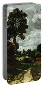 Oil Sketch Of Stoke-by-nayland Portable Battery Charger