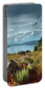 Okanagan Lake In The Spring Portable Battery Charger
