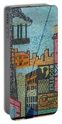 Oklahoma City Bricktown Mosaic Wall Portable Battery Charger