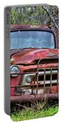 Old Abandoned International Truck Portable Battery Charger
