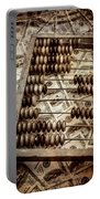 Old Accounting Wooden Abacus Portable Battery Charger