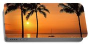 Old Airport Beach Sunset Portable Battery Charger