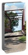 Old Alton Bridge In Denton County Portable Battery Charger