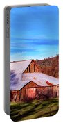 Old Barn In California Portable Battery Charger