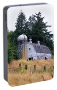 Old Barn In Field Portable Battery Charger