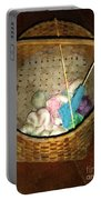 Old Basket New Yarn Portable Battery Charger