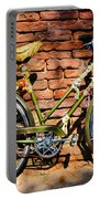 Old Bike And Bricks Portable Battery Charger