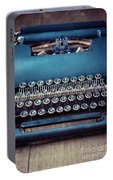 Old Blue Typewriter Portable Battery Charger