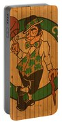 Old Boston Celtics Basketball Gym Floor Portable Battery Charger