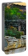 Old Brick Fence Built To The Edge Portable Battery Charger