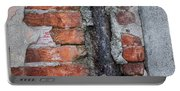 Old Brick Wall Abstract Portable Battery Charger