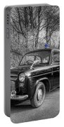Old British Police Car And Tardis Portable Battery Charger