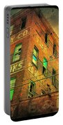 Old Empty Building In Retro Colors Portable Battery Charger