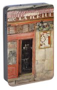 Old Cafe- Santander Spain Portable Battery Charger by Tomas Castano