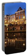 Old Canal In Utrecht At Dusk 211 Portable Battery Charger