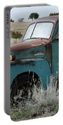 Old Chevy Farm Truck In The Field Portable Battery Charger